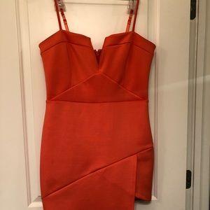 Bebe orange dress